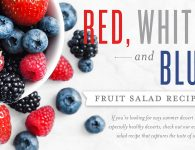 Festive fourth of July Red, white, and blue fruit salad recipe
