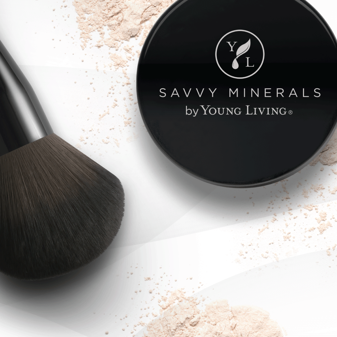 savvy minerals veil powder container with brush