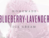 Homemade Blueberry Lavender Ice Cream Recipe