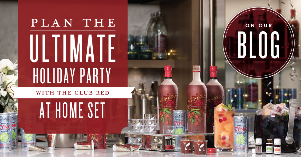 Plan the ultimate holiday party with the Club Red at Home Set