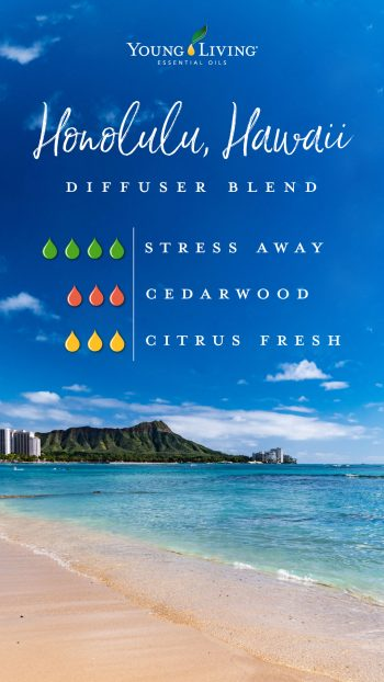 4 drops Stress Away essential oil 3 drops Cedarwood essential oil 3 drops Citrus Fresh essential oil