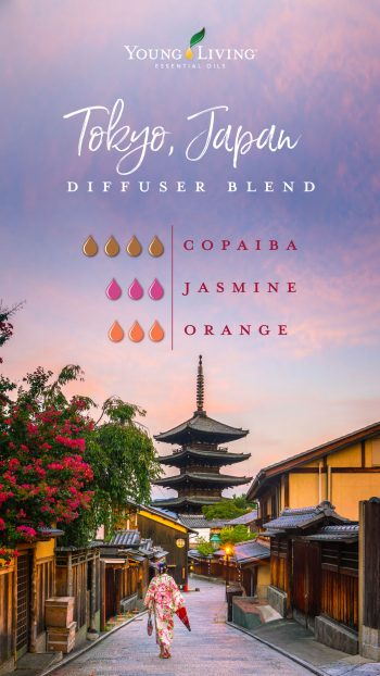 4 drops Copaiba essential oil 3 drops Jasmine essential oil 3 drops Orange essential oil