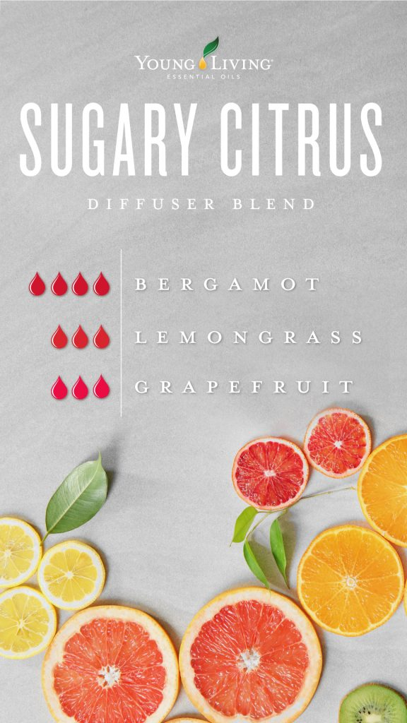 Sugary citrus essential oil blend