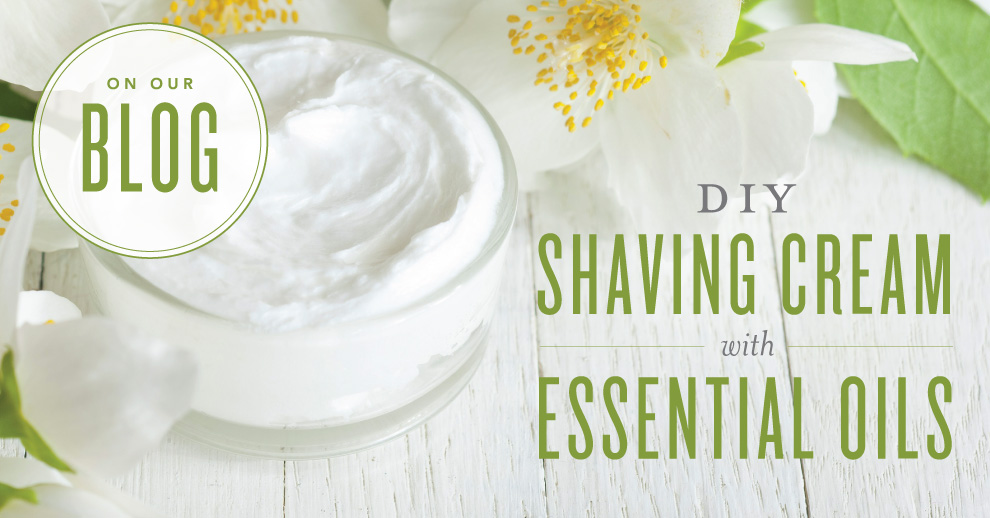 DIY shaving cream with essential oils