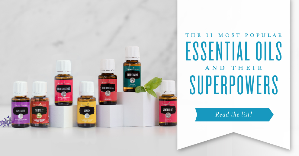 The 11 most popular essential oils and their superpowers | Young Living Essential oils