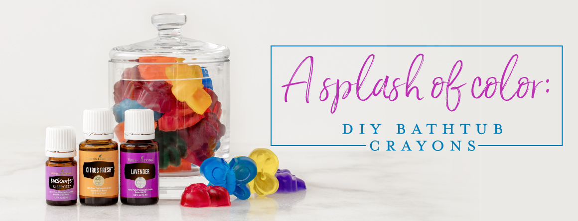 a splash of color: DIY bath crayons