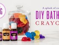 Young Living DIY bath crayons