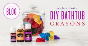 Young Living DIY bath crayons