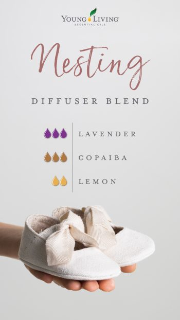 3 drops Lavender essential oil, 3 drops Copaiba essential oil, 2 drops Lemon essential oil