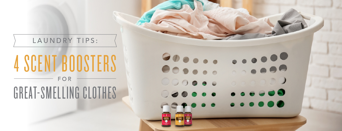 Essential oil laundry boost blends