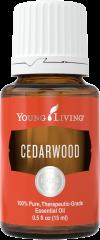 bottle of cedarwood essential oil
