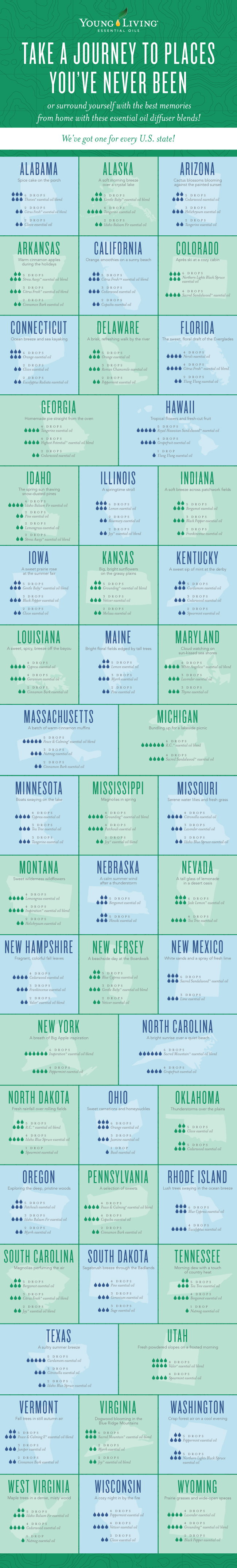 diffuser blends for every state