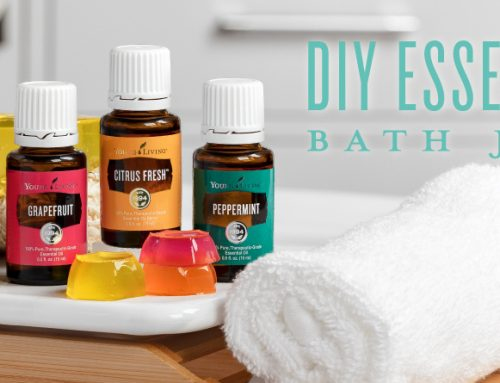 DIY essential oil bath jellies