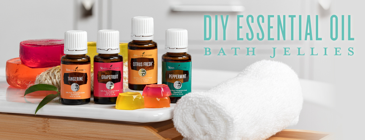 DIY essential oil bath jellies | Young Living
