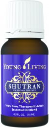 bottle of Shutran essential oil blend