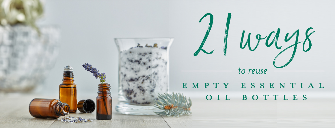 21 ways to reuse empty essential oil bottles