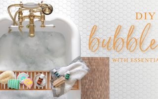DIY bubble bars with essential oils