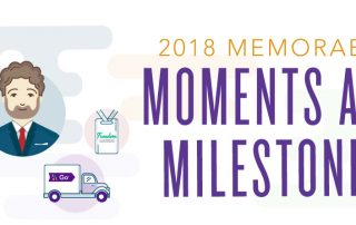 2018's memorable moments infographic