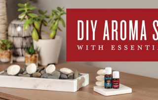 DIY aroma stones with essential oils