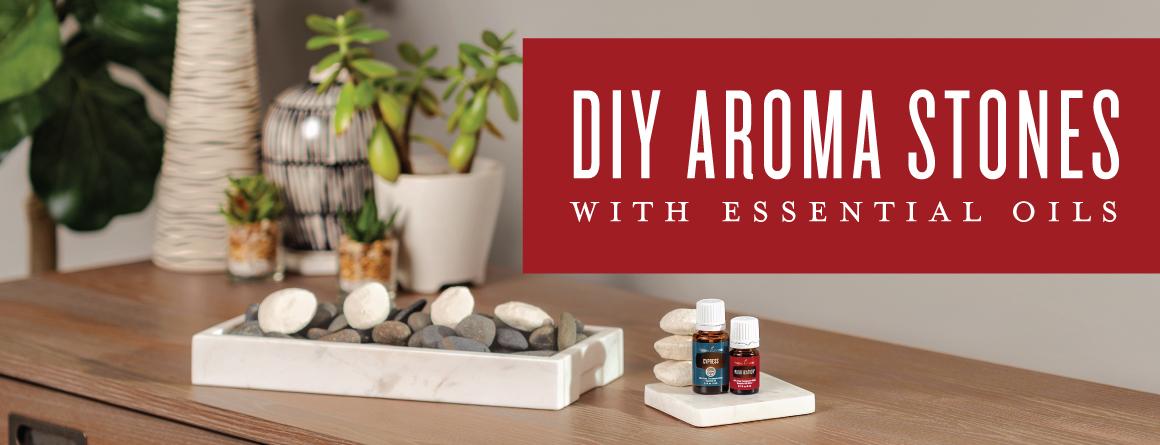 DIY aroma stones with essential oils