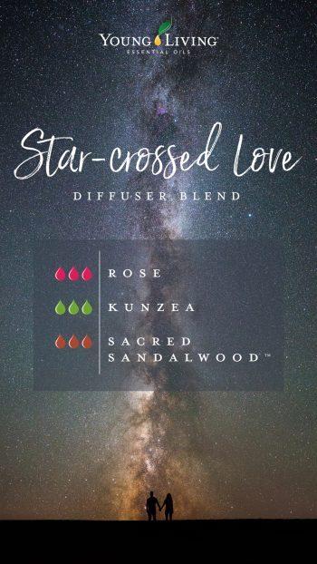 3 drops Rose, 3 drops Kunzea, 3 drops Sacred Sandalwood