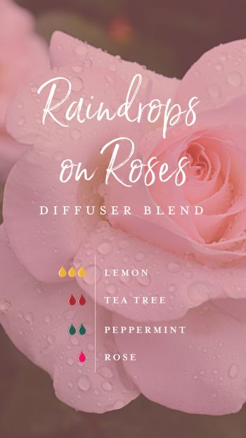 Raindrops on Roses diffuser blend