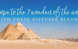 Escape to the 7 wonders of the world with these diffuser blends