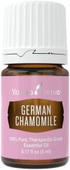bottle of german chamomile essential oil