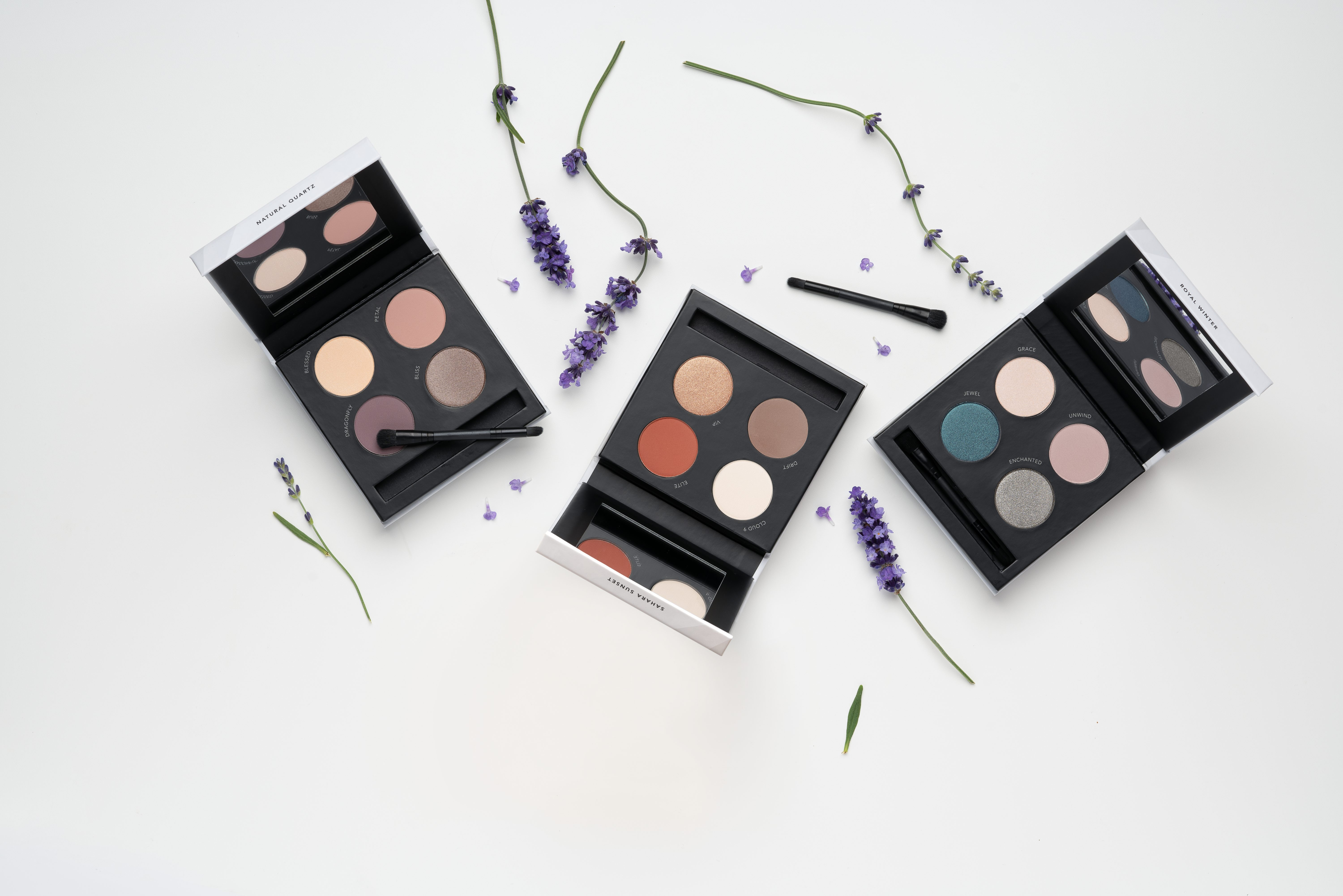 stocking stuffer ideas: makeup palettes in three shade families