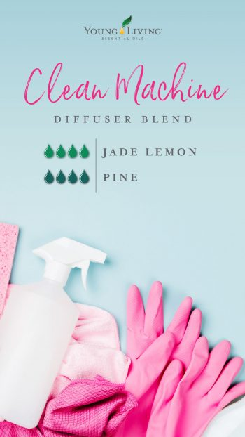 Clean Machine diffuser blend recipe 4 drops Jade Lemon 4 drops Pine