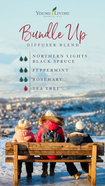 2 drops Northern Lights Black Spruce essential oil  2 drops Peppermint essential oil  2 drops Rosemary essential oil  1 drop Tea Tree essential oil