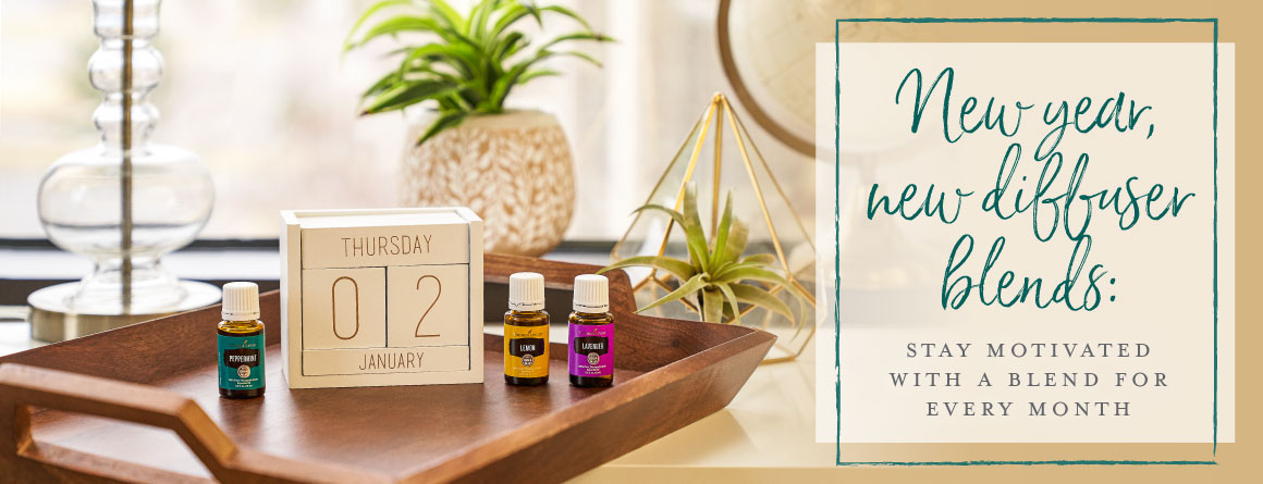 New year, new diffuser blends: Stay motivated with a blend for every month