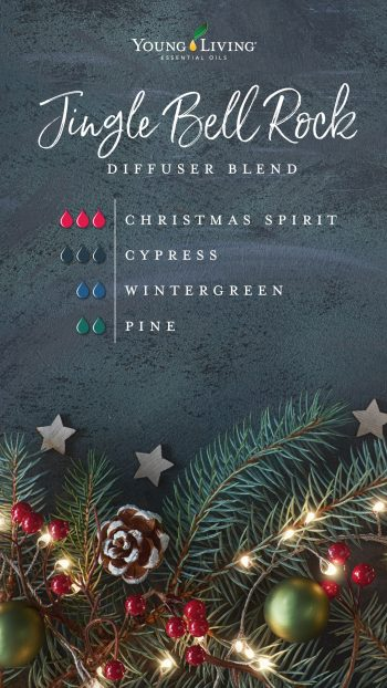 3 drops Christmas Spirit essential oil blend  3 drops Cypress essential oil  2 drops Pine essential oil  2 drops Wintergreen essential oil