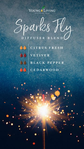 2 drops Citrus Fresh essential oil blend  2 drops Vetiver essential oil  2 drops Black Pepper essential oil  2 drops Cedarwood essential oil