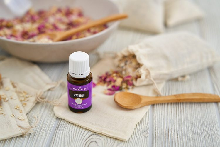 lavender essential oil is an essential ingredient in diy bath tea