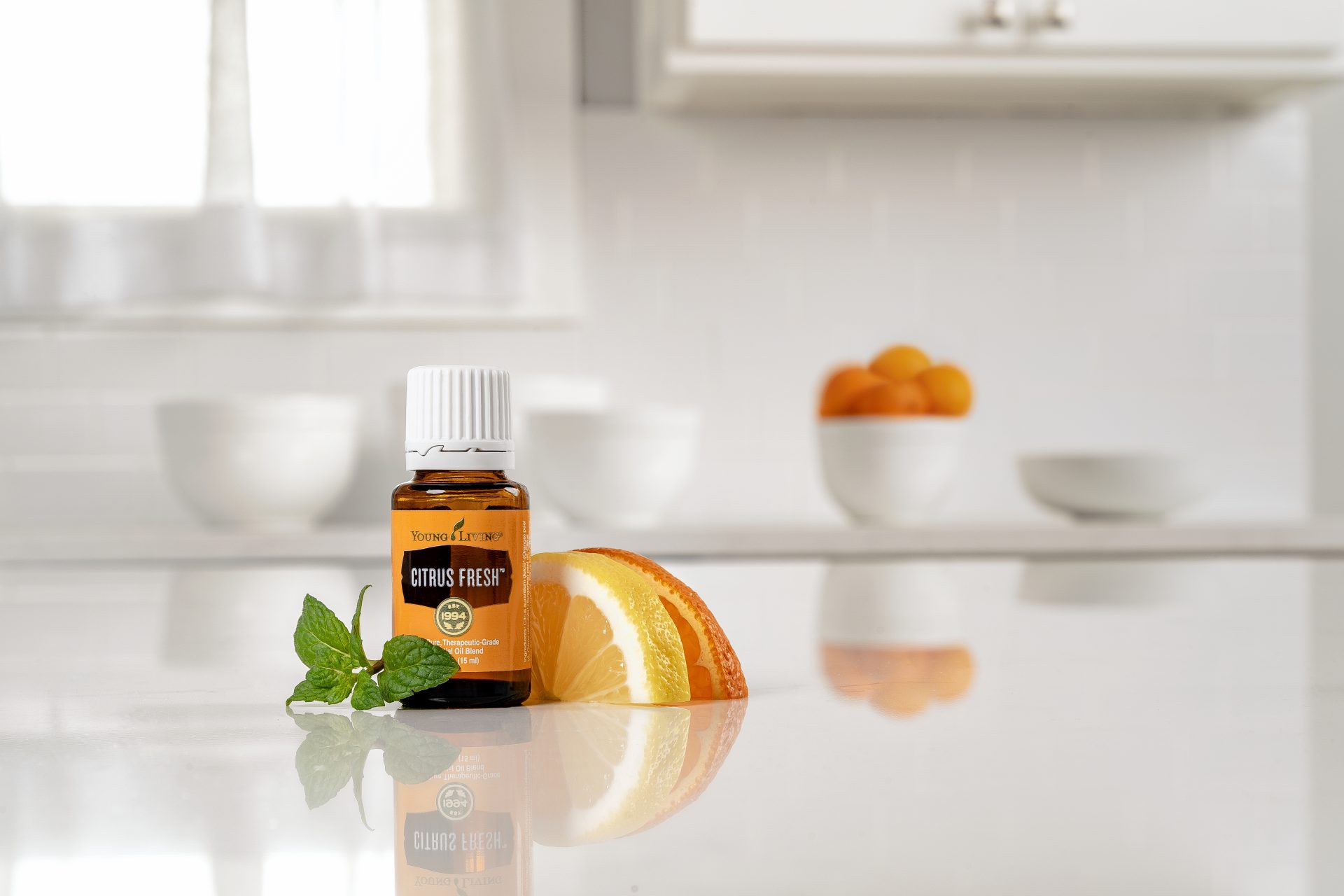 Citrus fresh on a counter top