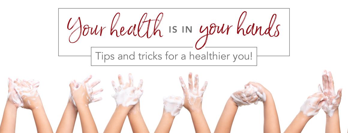 healthy hands: children hands being washed