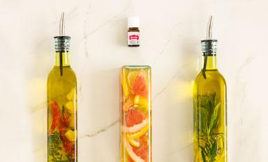 ¡Prepara platillos deliciosos con aceite de oliva y vinagre enriquecidos con aceite Vitality!