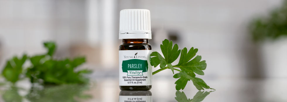 using parsley vitality essential oil for spring