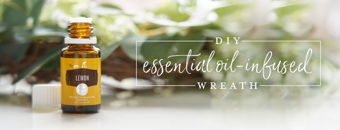 How to make an essential oil infused wreath