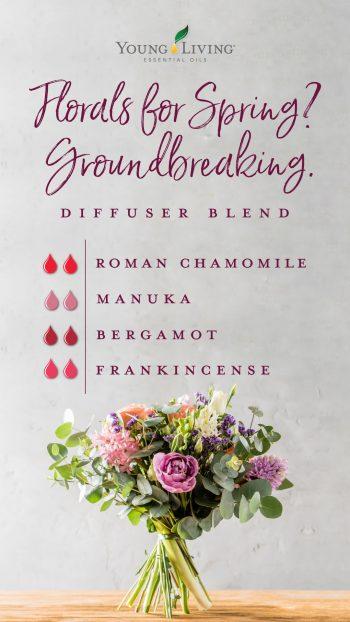 2 drops roman chamomile, 2 drops manuka, 2 drops bergamot, 2 drops frankincense