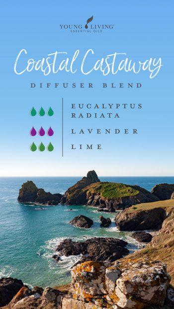 3 drops Eucalyptus Radiata 3 drops Lavender 3 drops Lime