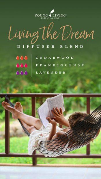 3 drops Cedarwood 3 drops Frankincense 3 drops Lavender