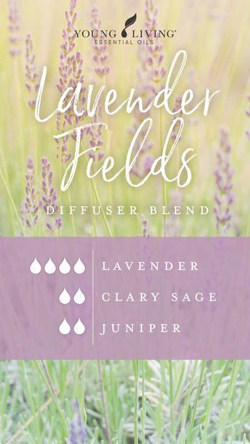 4 drops Lavender, 2 drops clary sage, 2 drops juniper