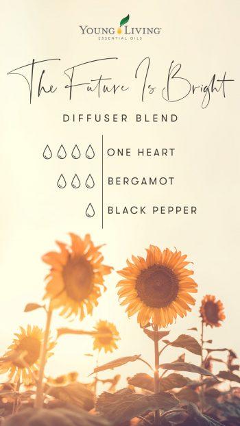 4 drops One Heart 3 drops Bergamot 1 drop Black Pepper