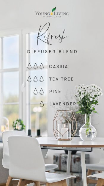 3 drops Cassia 3 drops Tea Tree 2 drops Pine 1 drop Lavender