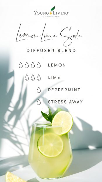 4 drops Lemon 3 drops Lime 1 drop Peppermint 1 drop Stress Away