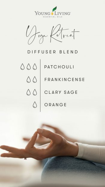 3 drops Patchouli 2 drops Frankincense 2 drops Clary Sage 1 drop Orange