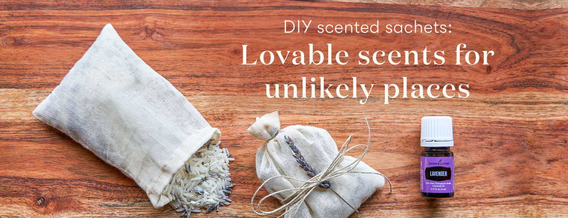 DIY aromatherapy sachets