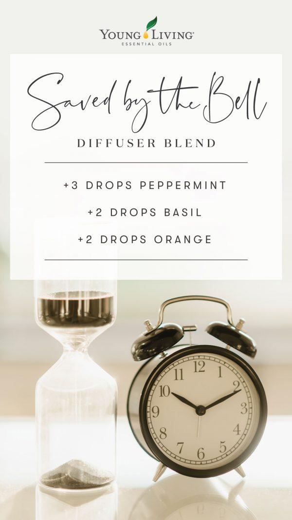3 drops of pepermint, 2 drops of basil, 2 drops of orange